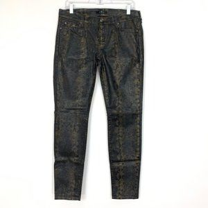 7 for All Mankind Snake Print The Skinny Jeggings